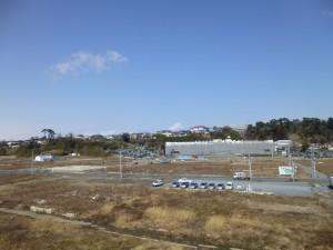 門脇小学校が下に見えます